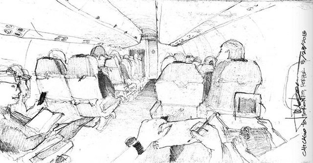 Porter Airlines Flight, Chicago USA to T