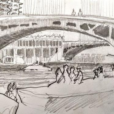 Chicago Riverwalk at LaSalle Street, loo
