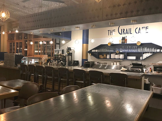 The Grail Cafe cofee shop, bar and restaurant located in Chicago's Printer's Row neighborhood