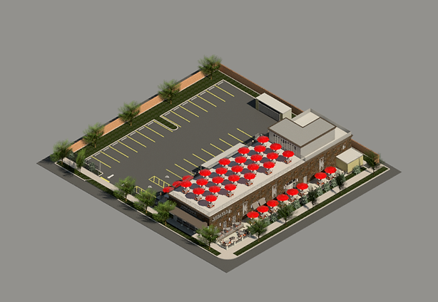 Chicago's Home of Chicken and Waffles axonometric view