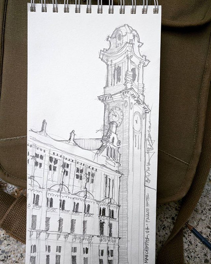 Palace Hotel, Manchester UK_ Last sketch