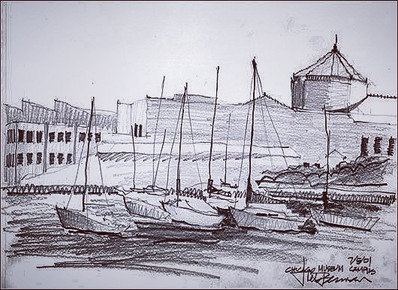 Chicago Museum Campus Sketch done by Joe