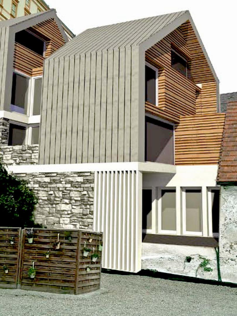 Zubau Wohnhaus zu denkmalgeschützen Bestand