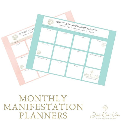 MONTHLY MANIFESTATION PLANNERS