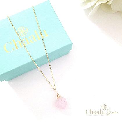 Bella Rose Quartz Necklace