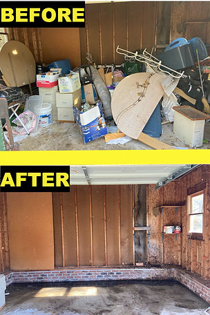 trash removal Before and After
