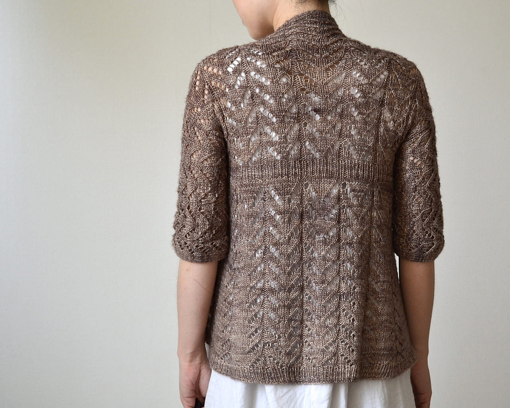 Hitofude lacy knitted cardigan