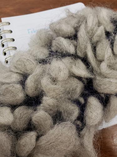 Inside of a thrummed mitten