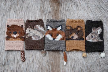 Woodsy Association 2.0 Mittens by Tiny Owl Knits