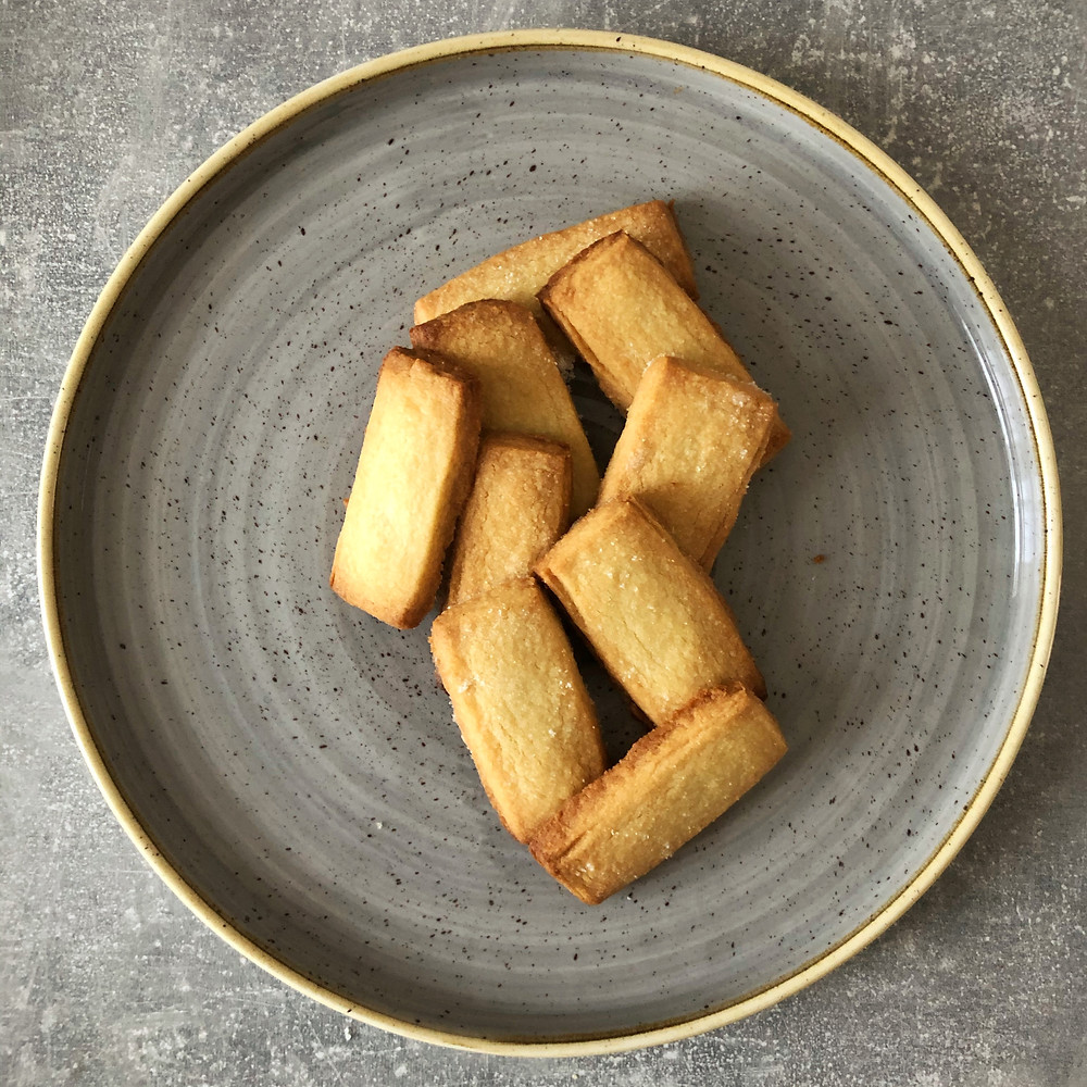 Shortbread biscuits on a plate