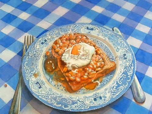 Breakfast dish.