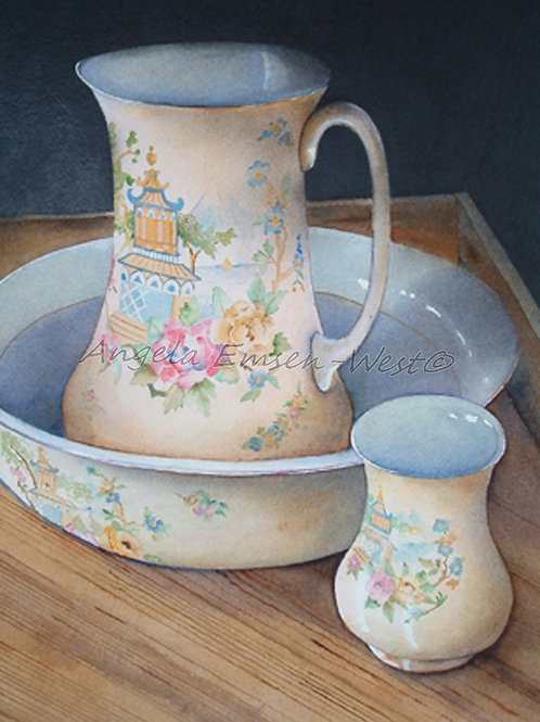 Washbowl and jug.