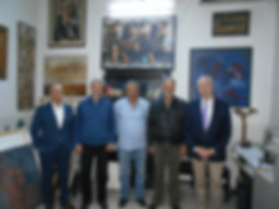 Mel with Syrian artists Damascus '18.jpg