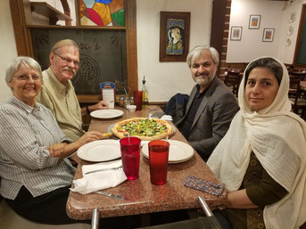 Kathy and Ed Martin with Dr. Rasoulipour