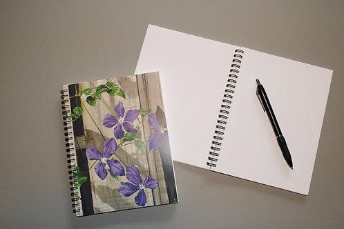 Purple Clematis Journal/Notebook