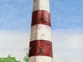 Assateague Lighthouse off the Coast of Virginia's Eastern Shore
