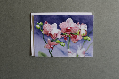 Orchids Folded Note Card