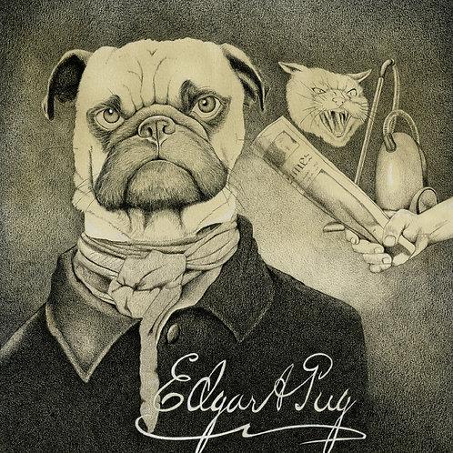 Edgar Allan Pug Print