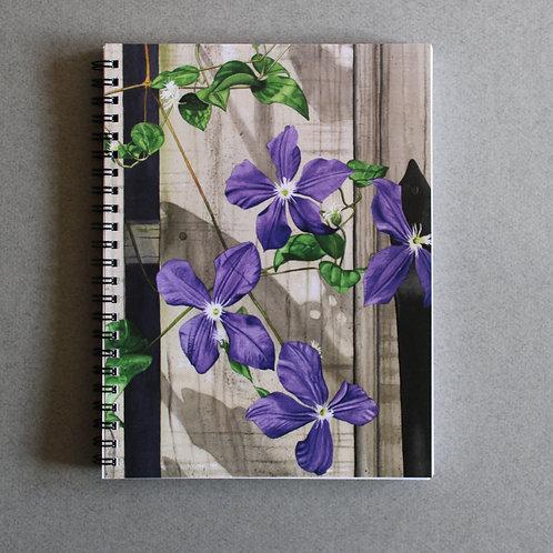 Purple Clematis Spiral Journal/Notebook