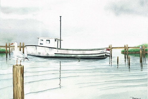 Boat at Chincoteague Art Print