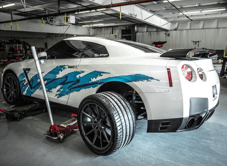 Solo Cup Nissan GTR gets New Vossen Wheels