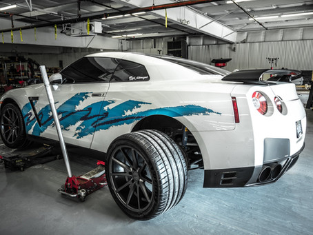 Solo Cup Nissan GTR gets New Vossen Wheels