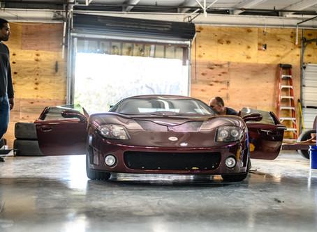 Factory Five GTM swings by Velocity Motorworks