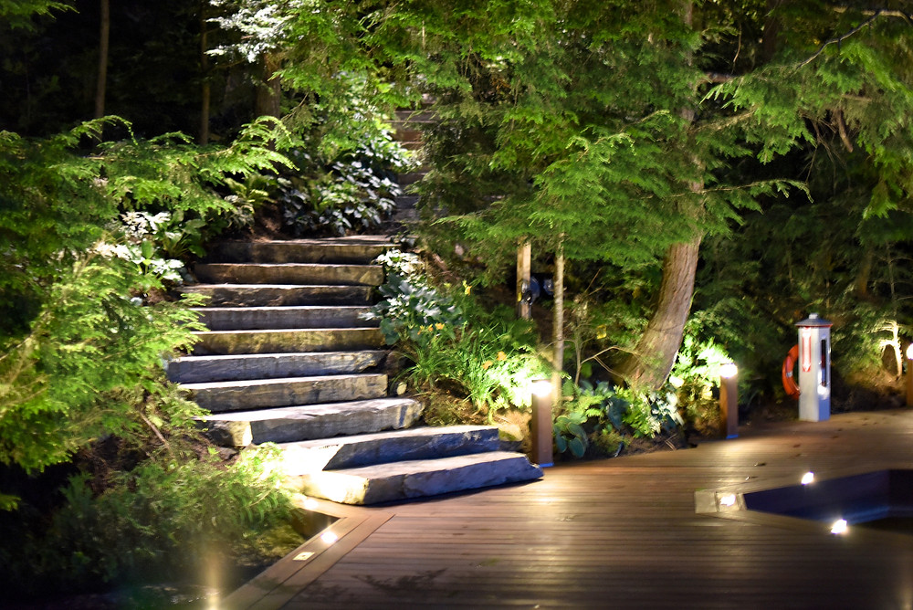 Pathway lighting done by Nightscapes