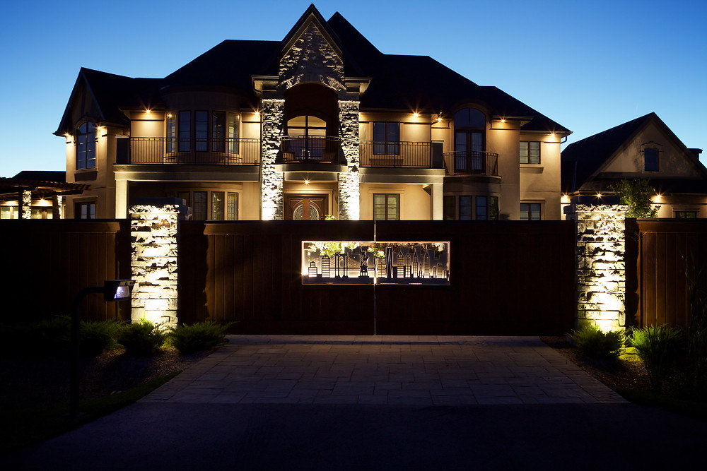 Property Lighting System by Lightscapes in Ontario