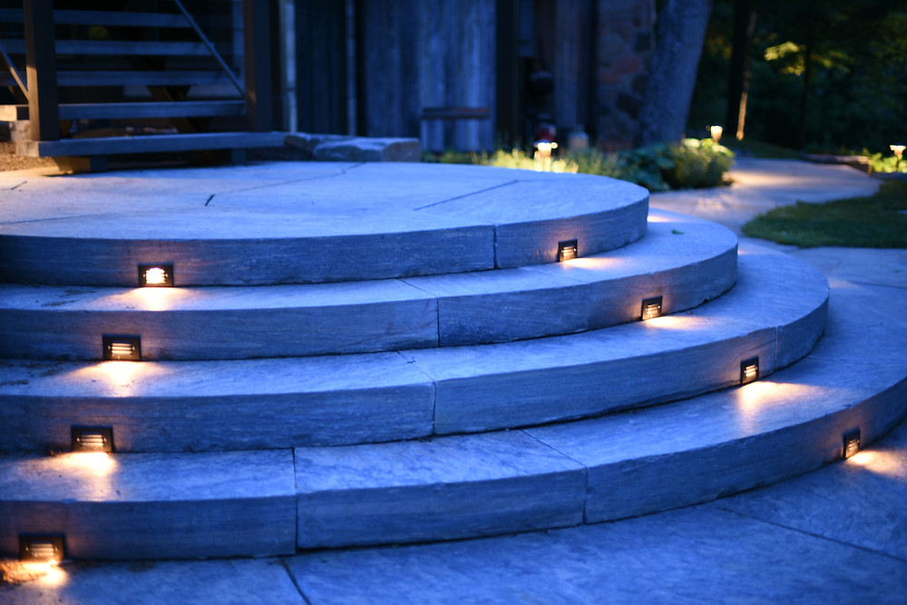Well lighting in stairs done by Nightscapes