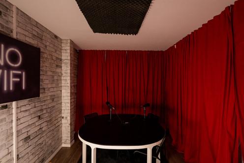 Sync Studios Podcast Table