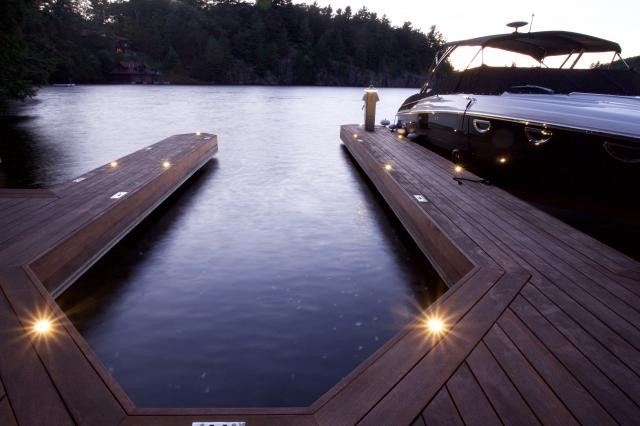 A dock with welllights, done by Nightscapes