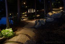 Nightscapes of Muskoka | Pathway Lighting