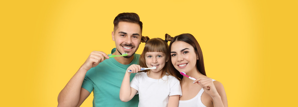 Family Brushing Teeth at LifeSmiles