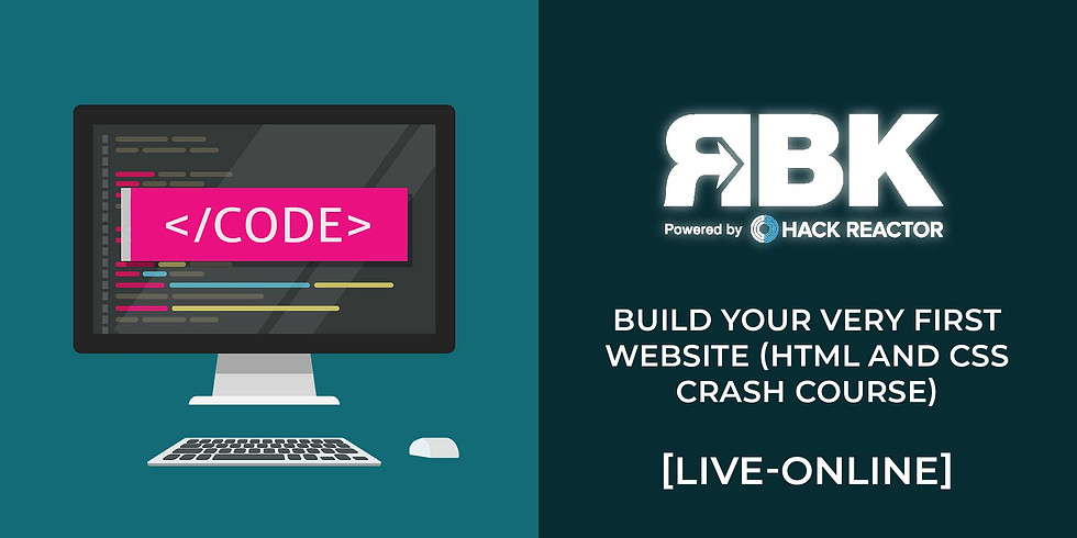 Build your very first Website (HTML and CSS crash course)