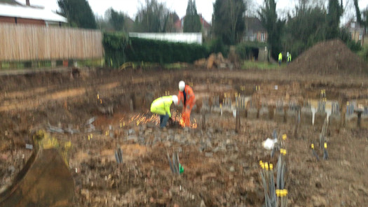 Initial Pilings prior to dig out