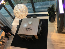 Eco House view of dinning from gallery