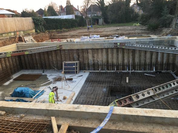 Preparation for basement structure