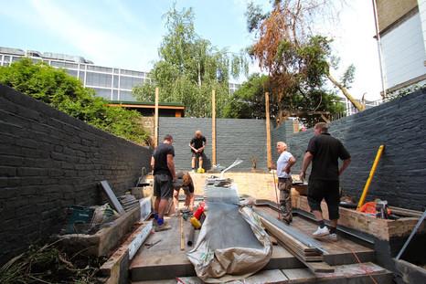 Belgravia Excavation of garden area