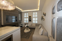 Marble Sliding Table & Hidden Kitchen