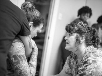 Homebirth cesarean photography in Richmond, VA