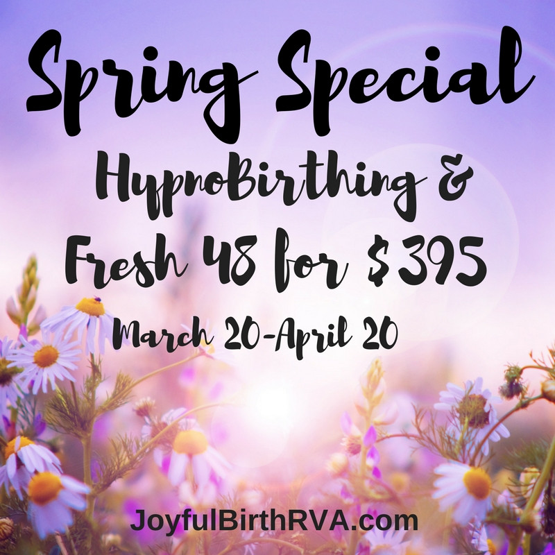 HypnoBirthing childbirth classes in Richmond VA
