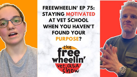 Freewheelin' Ep 75: Staying Motivated At Vet School When You Haven't Found Your Purpose?