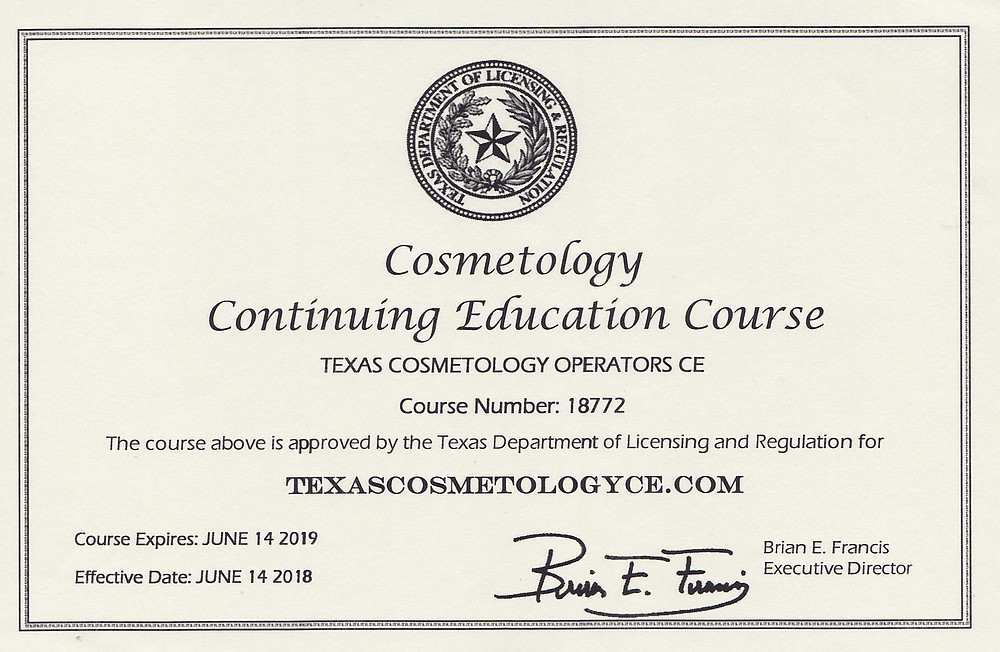 Cosmetologist license