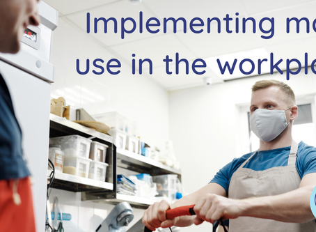 Implementing mask use in the workplace