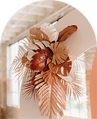 painted palms for wedding decor