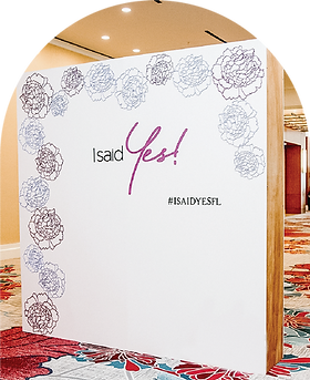 brand event photo backdrop install