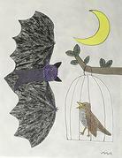 イソップ寓話 ナイチンゲールと蝙蝠