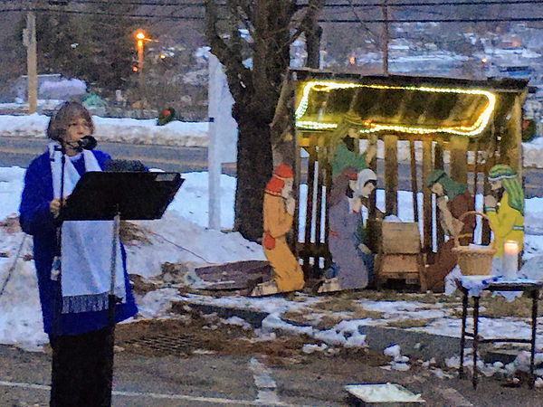 Christmas Eve outdoor service 2  12-24-2