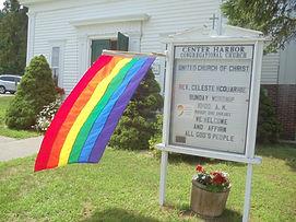 Rainbow flag at church juy 2018 006 (002